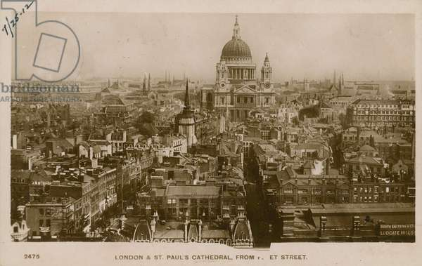 St Paul's Cathedral, London, from Fleet Street (photo)