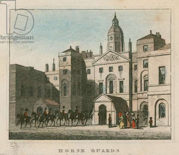 Horse Guards (coloured engraving)