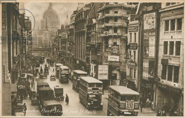 Fleet Street and St Paul's Cathedral, London (photo)
