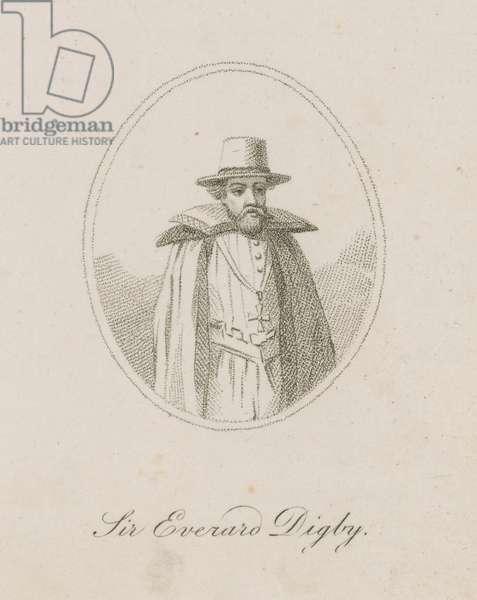 Sir Everard Digby, a member of the Gunpowder Plot (engraving)