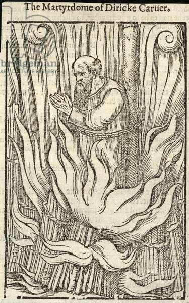 The martyrdom of Diricke Caruer (engraving)