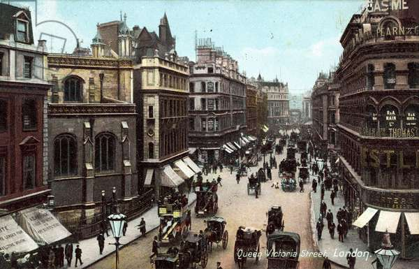 Queen Victoria Street, London (colour photo)