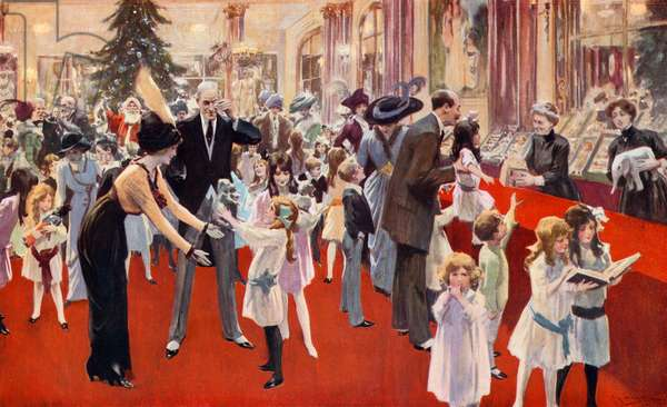 Children's party at the Savoy (colour litho)