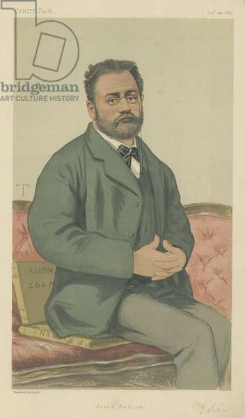 Emile Zola (colour litho)