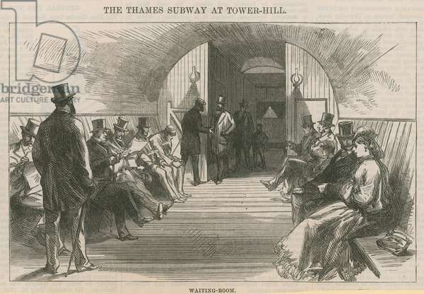 The Thames Subway at Tower Hill (engraving)
