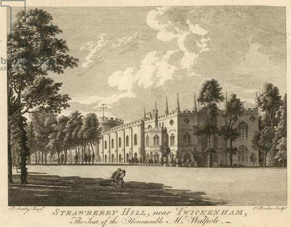 Strawberry Hill, Twickenham, London, the seat of the Honourable Horace Walpole (engraving)