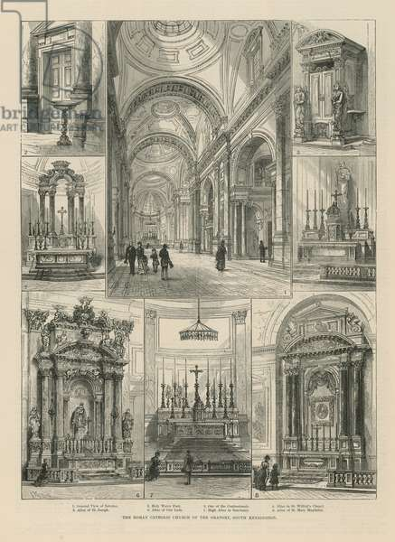 The Roman Catholic Church of the Oratory (engraving)