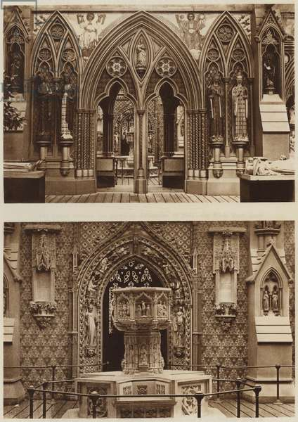 The Mediaeval Court (b/w photo)
