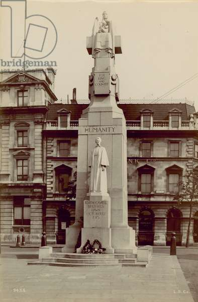 Memorial to Edith Cavell, (photo)