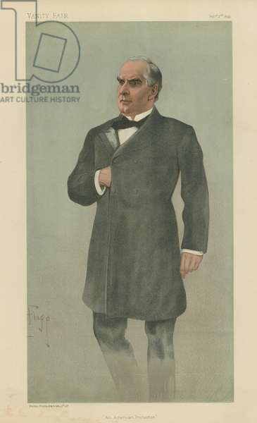 William McKinley (colour litho)