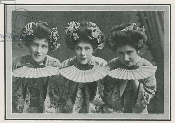 The Mikado - The Three Little Maids from a 1908 production at the Savoy Theatre, London (photo)