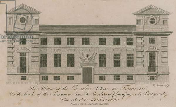 The house of the Chevalier D'Eon at Tonnerre (engraving)
