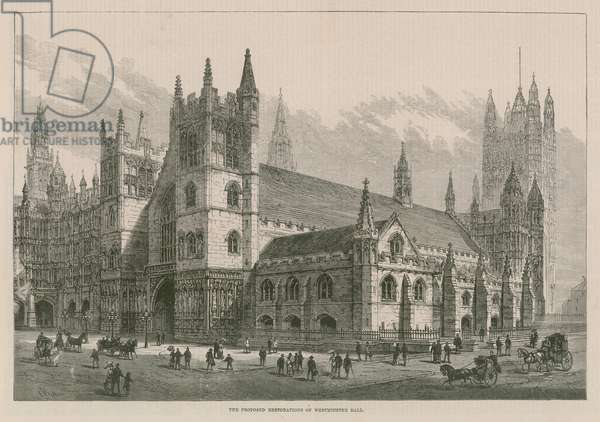 The proposed restoration of Westminster Hall (engraving)