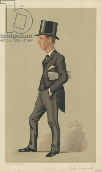 Herbert Henry Asquith (colour litho)