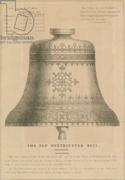 The new Westminster Bell (Big Ben) (engraving)