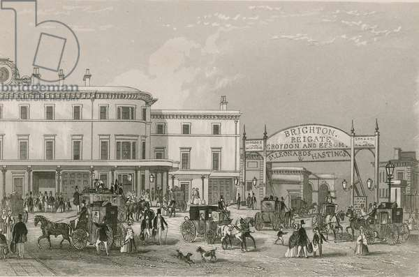 South Eastern railway station, London Bridge (engraving)