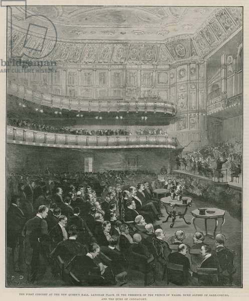 The first concert at the new Queen's Hall, Langham Place (engraving)
