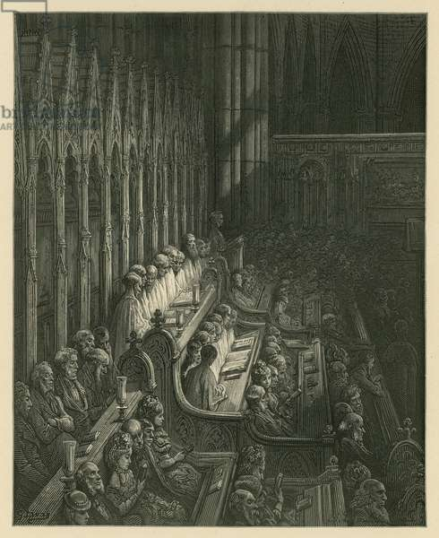 The Choir of Westminster Abbey (engraving)