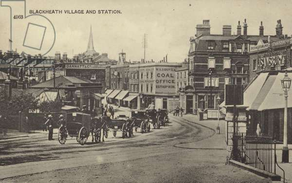 Blackheath Village and Station, London (b/w photo)