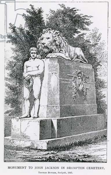Monument to John Jackson in Brompton Cemetry (engraving)