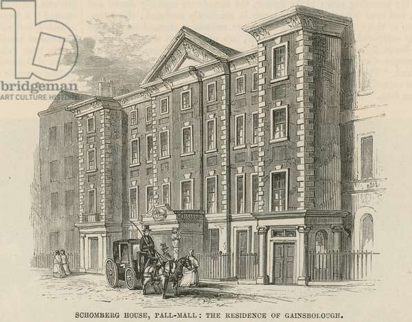 Schomberg House, Pall Mall, London, the residence of Thomas Gainsborough (engraving)