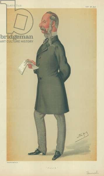 Mr John Tenniel, Punch, 26 October 1878, Vanity Fair cartoon (colour litho)