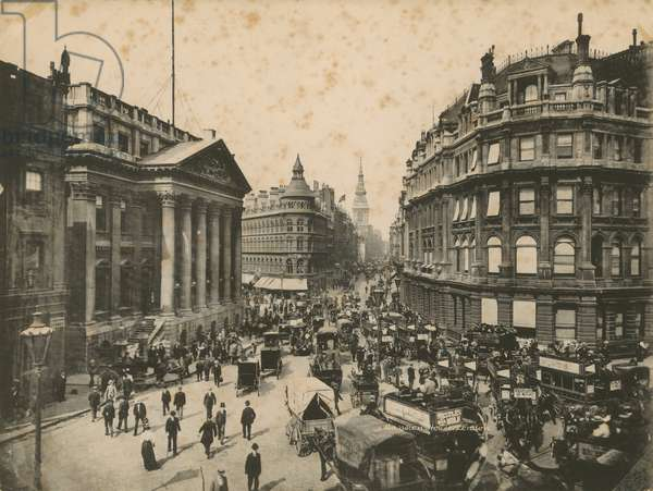 Mansion House, Queen Victoria Street, and Cheapside, London (photo)