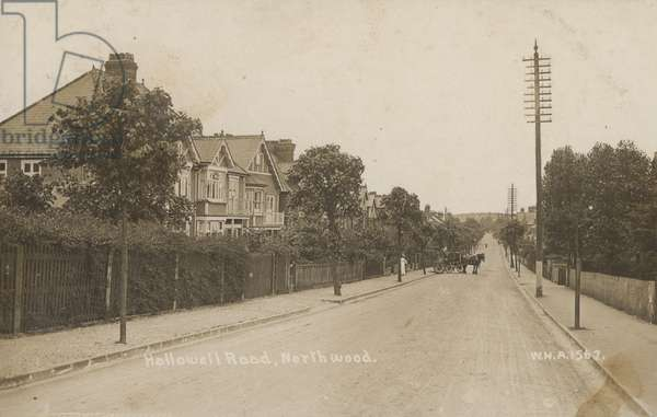 Hallowell Road, Northwood, near London (b/w photo)