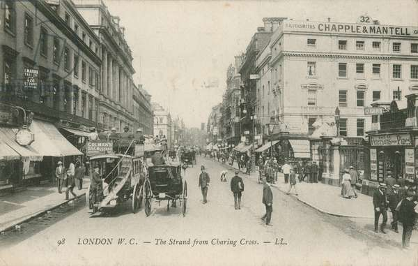 The Strand from Charing Cross, London (photo)