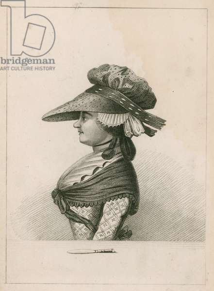 Portrait of Margaret Nicholson, would-be assassin of King George III (engraving)