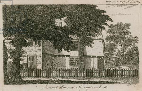 Rectorial House at Newington Butts, Southwark, London (engraving)