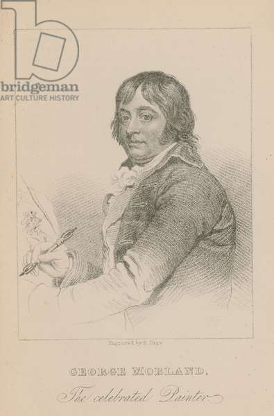 George Morland, the celebrated painter (engraving)