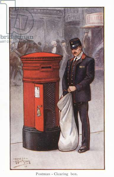 Postman - Clearing box (colour litho)