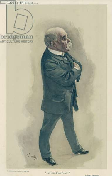 Monsieur Georges Clemenceau (colour litho)