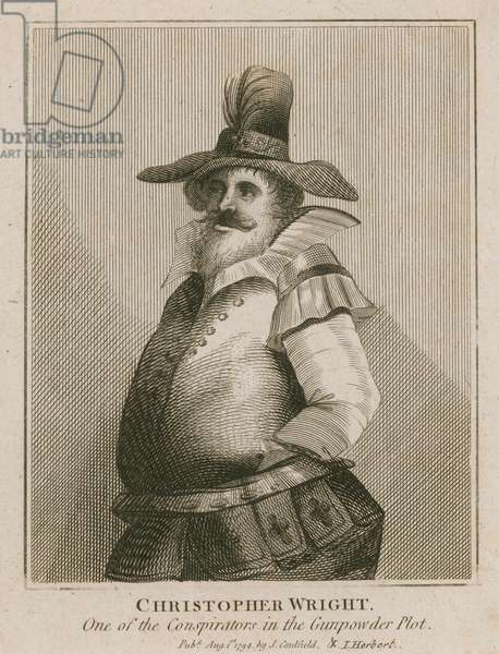 Christopher Wright, one of the conspiritors in the Gunpowder Plot (engraving)