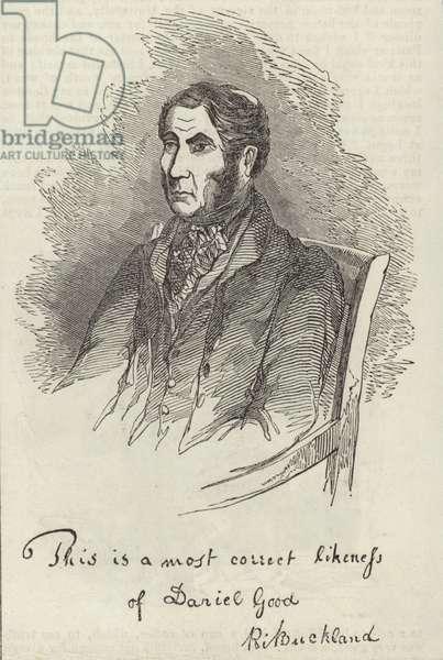Portrait of Daniel Good (engraving)