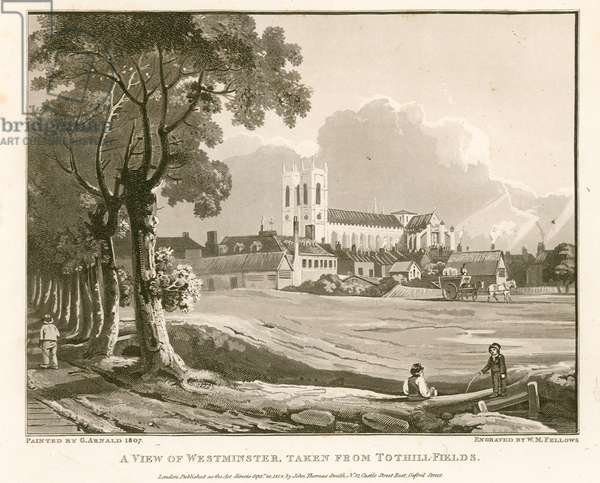 View of Westminster from Tothill Fields (engraving)