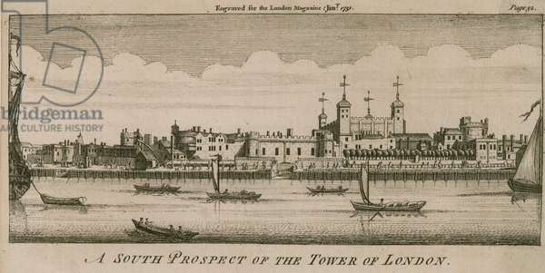 A south prospect of the Tower of London (engraving)
