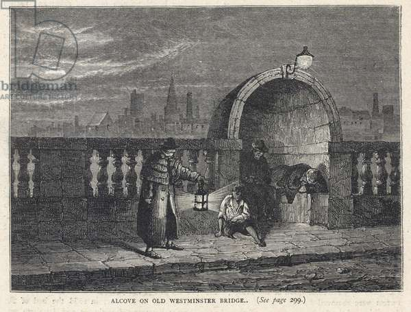 Alcove on Westminster Bridge (engraving)