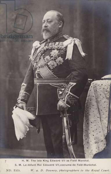 HM The late King Edward VII as Field Marshal (b/w photo)