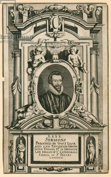 Dr John Donne, late Deane of the Cathedral Church of St Paul's London (engraving)