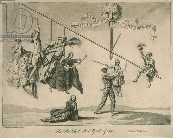 The Theatrical Steel-Yards of 1750 (engraving)