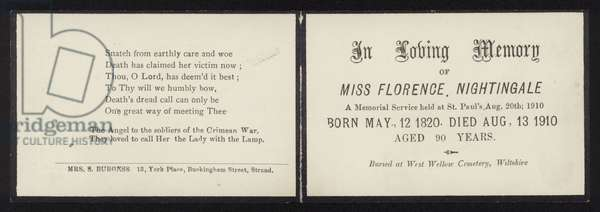 In Loving Memory of Florence Nightingale (litho)
