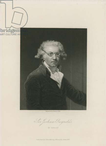 Self portrait of Sir Joshua Reynolds (engraving)
