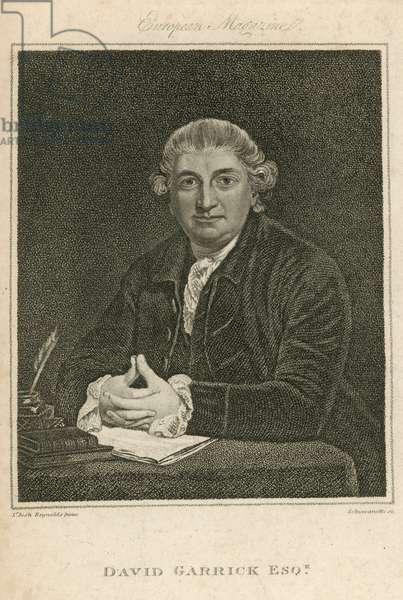 David Garrick, actor (engraving)