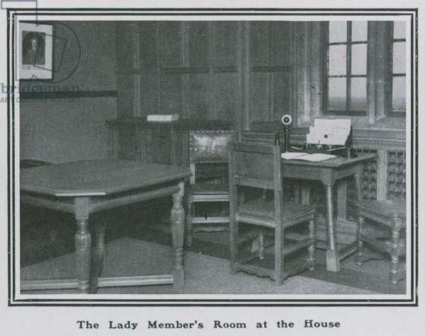 The lady member's room at the House of Commons (photo)