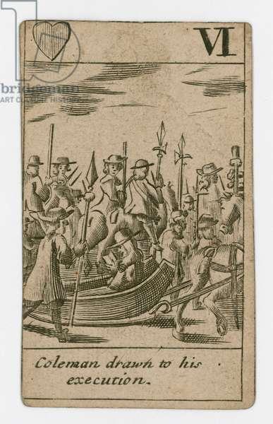 Popish Plot playing card (engraving)