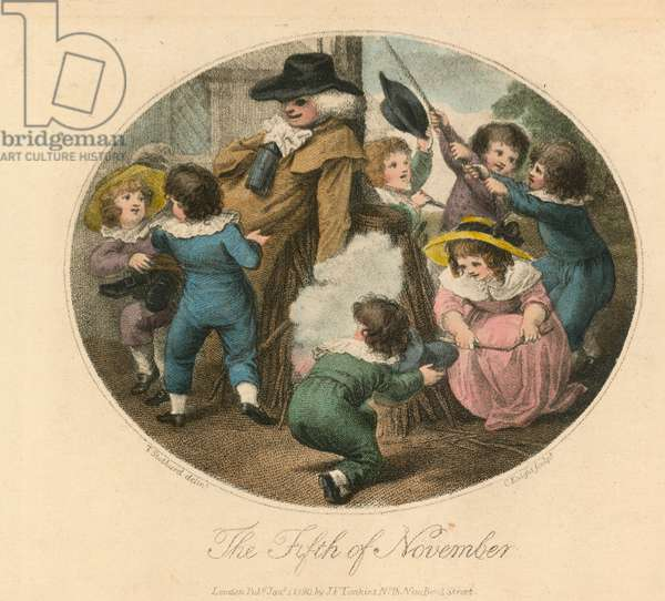 The Fifth of November (coloured engraving)