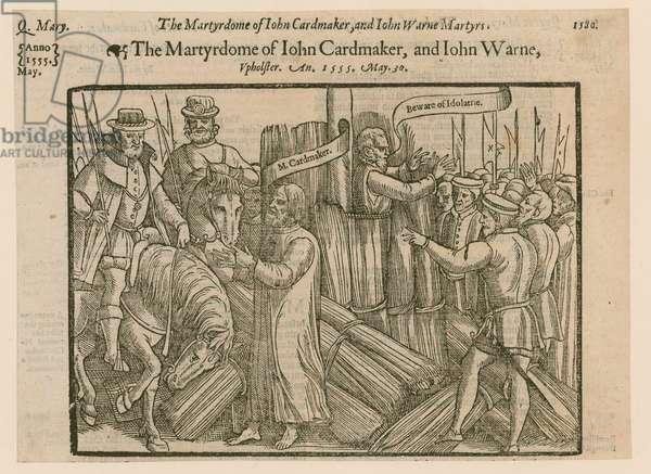 Martyrs burned at Smithfield (engraving)
