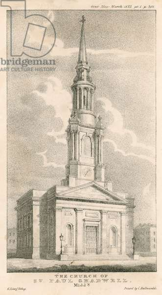 The Church of St Paul, Shadwell, London (engraving)